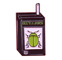 Beetlejuice Enamel Pin Juice Box Horror Movie Pin Retro Halloween Funny Lapel