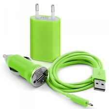 Usb mains charger 3en1 data green for samsung: i5700 galaxy spica/galaxy t
