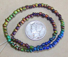 a STRAND of 100 - 3mm Round Micro Mood / Mirage Beads  - 1.5mm Hole