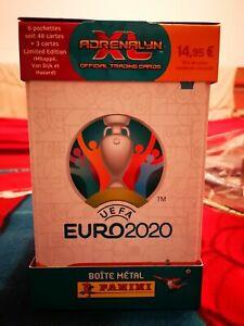 boite métallique Carte Panini adrenalyn xl trading cards UEFA euro 2020