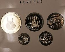 1989 Bank of New Zealand Brilliant Uncirculated 5 Coin Commonwealth Games Set
