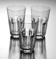 23 oz Smoke Grey Acrylic Plastic Glass Cup Hexagonal Base Glass Tumbler Set of 6