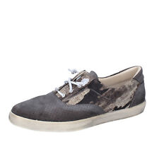 men's shoes  BEVERLY HILLS POLO CLUB 8 (EU41) sneakers gray suede canvas AG168-C