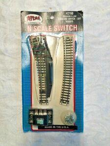 Atlas N #2700 Standard Switch - Left Remote! B L@@K!