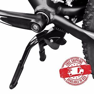 "BV Bike Kickstand Center Mount Double Leg Length Adjustable Foldable Fit 24""-28"""