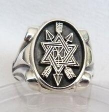 Masonic Secret Monitor Ring Hallmarked in Solid Silver 925