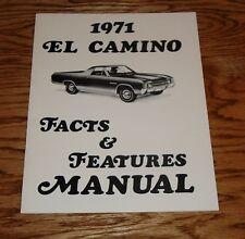 1971 Chevrolet El Camino Facts & Features Manual 71
