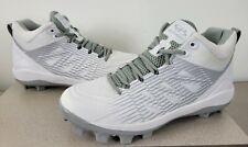 New listing Boombah Baseball Softball Challenger Molded Cleats White Gray Mens Size 11