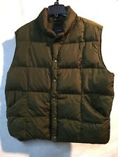 Lands End Down Puffer Vest Army Green XL 46-48