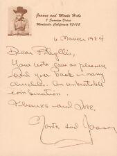 JOANNE HALE - AUTOGRAPH LETTER SIGNED 03/06/1984