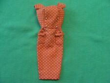Vintage Barbie Sheath Dress Red with White Dots & Gold Buttons Tagged