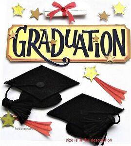 GRADUATION Jolee's Boutique 3-D Stickers Diploma Cap University Graduate Stars