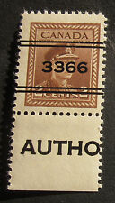 CANADA (KITCHENER)  PRECANCEL NH ** MINT  #2-250 CAT.$50 (AS USED) *PLEASE NOTE