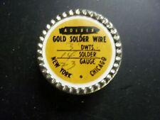 GOLD SOLDER WIRE 14 K-23 GAUGE ADERER