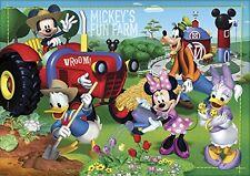 Clementoni 27859. Puzzle enfant. 104 pièces. La Ferme Mickey Mouse