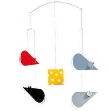 Cheese Mice Flensted Modern Danish Decor Hanging Mobile
