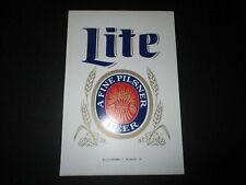 "MILLER LITE Classic Vintage 6.5X4.5"" STICKER decal craft beer brewery"