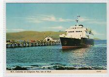 M.V. COLUMBA AT CRAIGNURE PIER: Isle of Mull postcard (C17656)