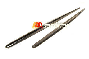 Carbon Fibre Side Skirt Extensions 2PC fits BMW F22 F23 2-Series M Sport Package