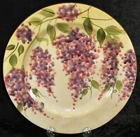 "Heritage Mint Wisteria 10.5"" Dinner Plate - Handpainted - Grapes"