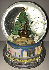 Vintage Rockefeller Center Christmas Musical Snow Globe Plays Music Works! Wow!