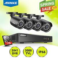 ANNKE 1TB HDD 4+1CH 1080P Lite DVR 3000TVL CCTV Camera Home Security TVI System