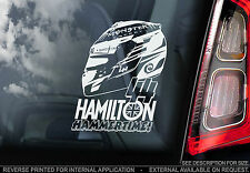 Lewis Hamilton - F1 Car Window Sticker - 'HAMMERTIME' - Mercedes Formula 1 - V02