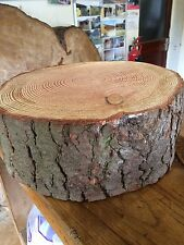 "14"" (36cm) Rustic Log slice, 4"" -5"" Thick Wooden Wedding cake stand, centerpiece"