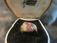Beautiful Modernist Quality 14ct Rose Gold & Ruby Boule Ring