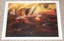 Tharsis Erupting Space Art Poster 1977 Mark Paternostro commission Astronomy Mag
