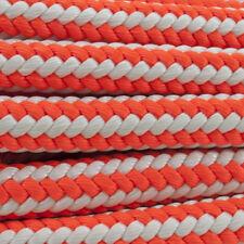 "1/2"" x 70' NE Ropes Arborist Safety Blue Braid Hi-Vee, Orange/White, 7000# Test"