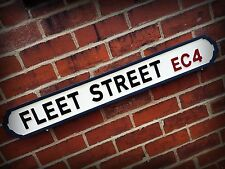 Fleet Street Faux Cast Iron Old Fashioned Street Sign Sweeney Todd Road Sign