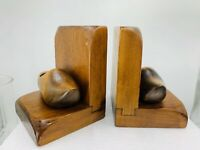 Vintage Bookends Hand Crafted Wood Dutch Shoe KENNEDY BROTHERS VERGENNES VT.