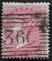 1856 QV SG63 4d Carmine Blued Paper Fine Used CV £575