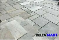 Indian Kandla Grey patio pack Paving Slabs 22mm calibrated Premium A-Grade