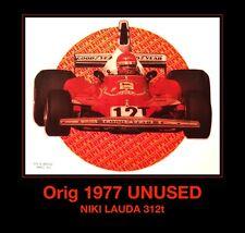 1977 NIKI LAUDA Ferrari Formula 1 one 312t Tag Huer f1 vtg Orig t-shirt iron-on
