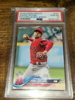 2018 Topps Update #US1 Shohei Ohtani Pitching in Red Jersey PSA 10 Rookie RC!