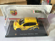 "DIE CAST "" FIAT PUNTO SUPER 1600 RALLY - 2002 "" + TECA RIGIDA  BOX 2 SCALA 1/43"