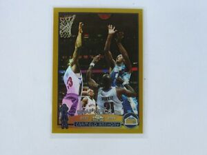 CARMELO ANTHONY ROOKIE 2003-04 Topps Chrome GOLD Refractor RC Missing serial #