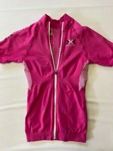 X-Bionic Damen Fahrradtrikot pink, bike Shirt Full Zip Gr. 38 (M)