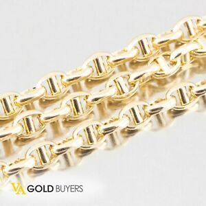 """Man's Genuine 14K Yellow Gold Anchor Link Chain / Necklace - 24"""""""
