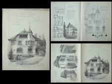 LE PETIT SACONNEX, VILLA MANDRAGORE - PLANCHES ARCHITECTURE 1910- MARC CAMOLETTI