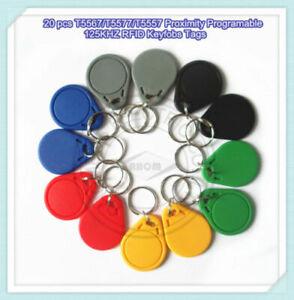 20pcs T5567/T5577/T5557 Proximity Programable 125KHZ RFID keyfobs tag