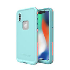 iPhone X Case Genuine LifeProof Fre Dust Shock Waterproof Cover for Apple Blue Coral