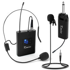 UHF Wireless Lavalier Microphone Headset Lapel Mic Bodypack Transmitter Receiver
