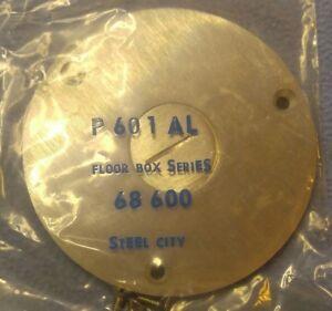 "T&B Steel City P 601 AL Aluminum Floor Box Cover 68 600 4"" across"