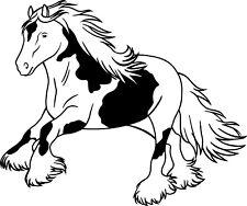 Aufkleber Pferd Tinker Motiv 56 mit Wunschtext selbst gestalten