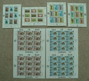 Isle of Man 1976 / 1978 / 1981 Europa Sheets Mint MNH