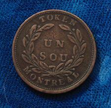1835 - 1838 1/2 half Penny Bank Token Bouquet Sous Lower Canada un sous No 702