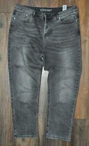 "M&S Ladies Grey Regular UK 14 Straight Cropped Jeans Denim Trousers Inseam 26"""